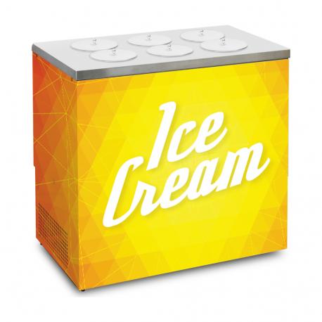 Vitrina de helado artesanal