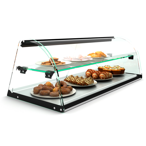 Dual display case pastry