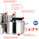 Stainless steel saucepans