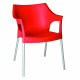Pole chair with arms