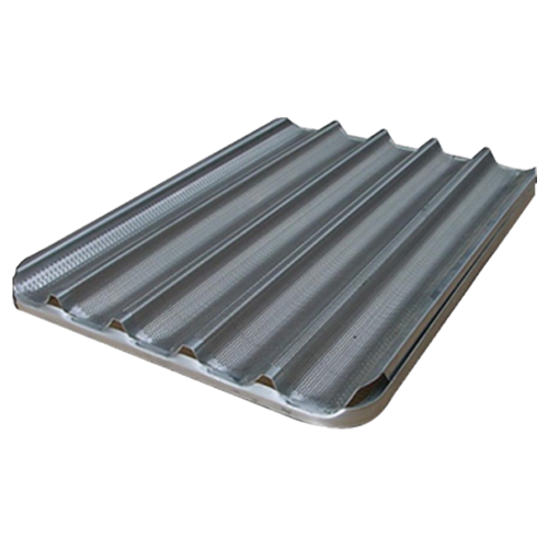 plateau en aluminium ondulé 60x40