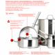 Lidded stainless steel kettles