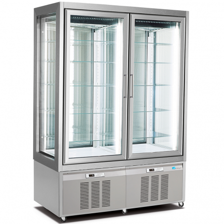 Double refrigerated pastry display cabinet