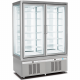 double freezer pastry display cabinet