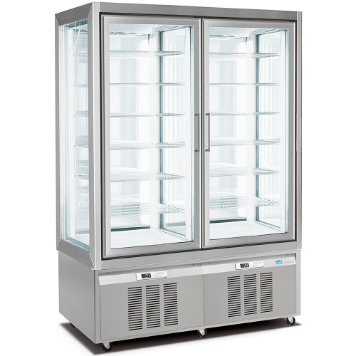 double freezer display cabinet