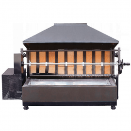 Wood-fired chicken rotisserie oven 1 spit