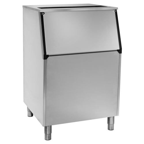 Ice storage bin with inclined top B210