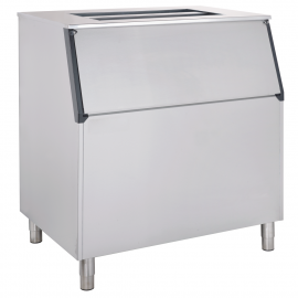 Ice storage bin with inclined top B340