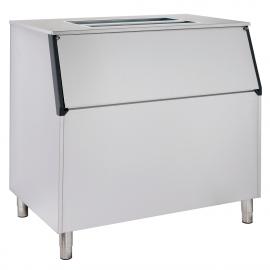 Ice storage bin with inclined top B400