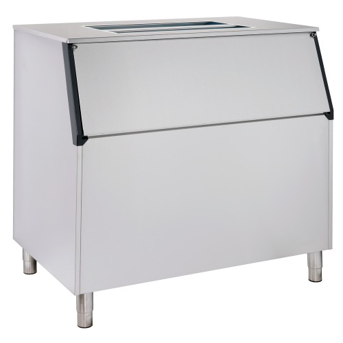 Ice storage bin with inclined top B500