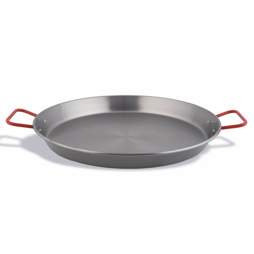 Valencian paella polished steel