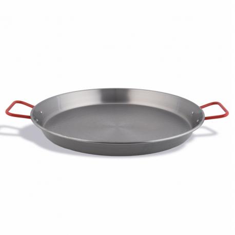 Valencian paella pan polished steel