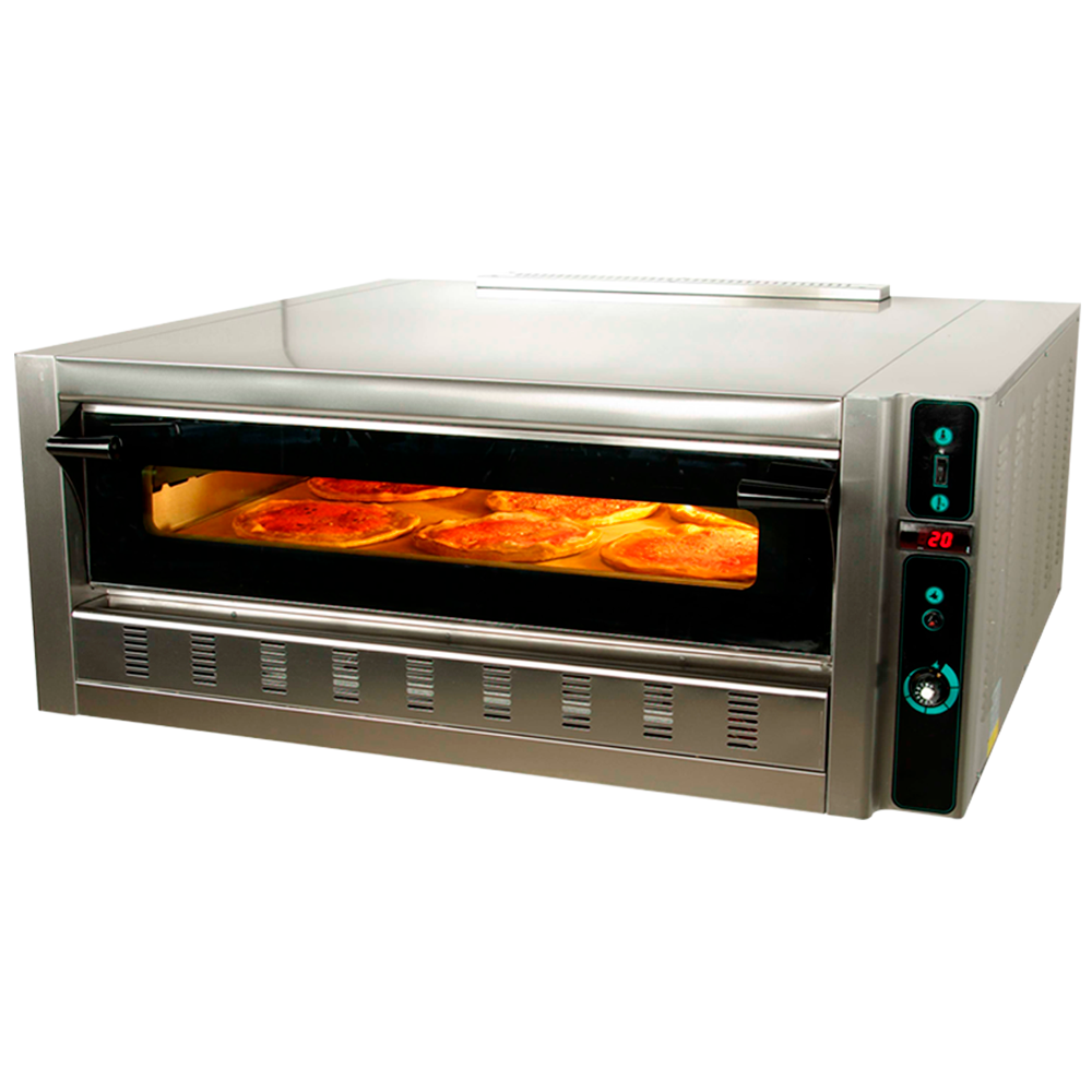 Horno a gas 6 pizzas industrial maquinaria bar hosteler a for Hornos domesticos a gas