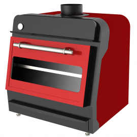 Charcoal oven Red 70
