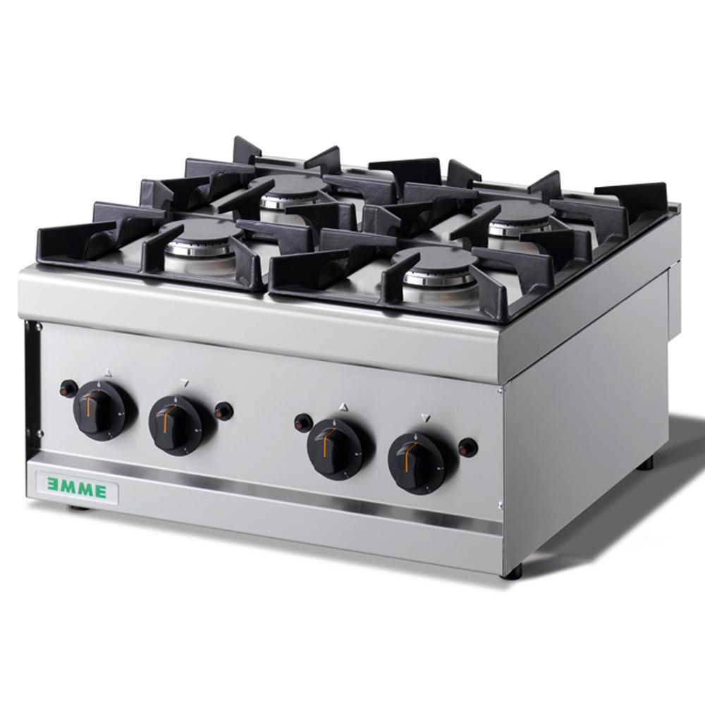 Cocina Industrial Sobremesa 4 Fuegos - Maquinaria Bar Hostelería
