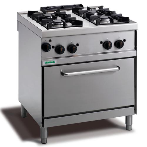 Cocina 4 fuegos con horno a gas