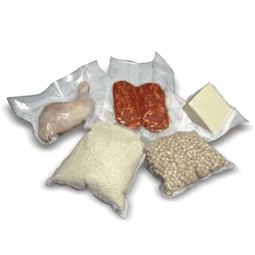 Vacuum packaging bags embossed