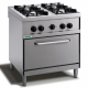 Cocina 4 fuegos con horno eléctrico