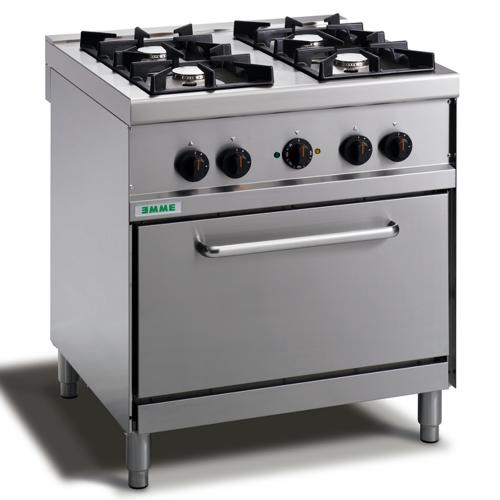 Cuisinière 4 feux avec four électrique