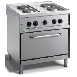 Cocina eléctrica 4 fuegos con horno