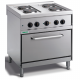 4 ring electric cooker with an oven