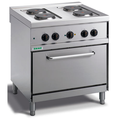 4 burners electric cooker with an oven