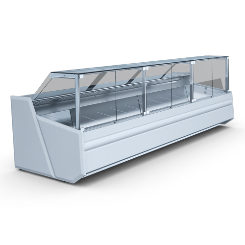 Refrigerated straight XL display case