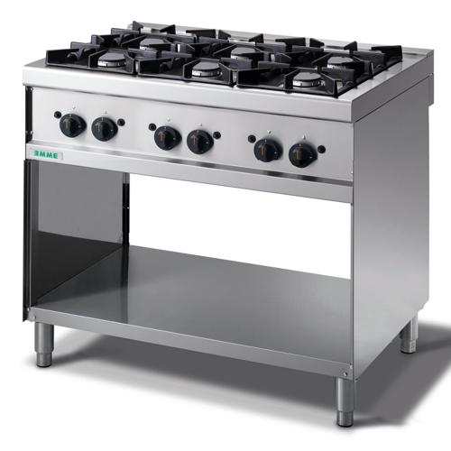Cocina 6 fuegos gas