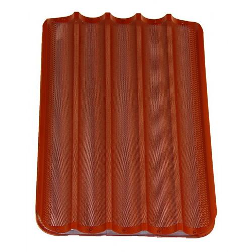 60x40 ondulé plateau de silicone perforée