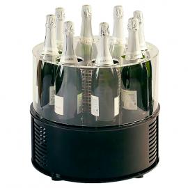 Vitrine réfrigérée à vin 8 bouteilles ronde