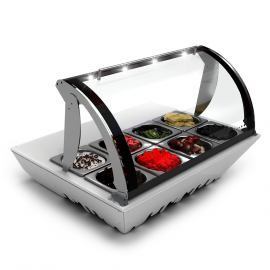 Vitrine réfrigérée topping box