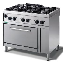 Cocina gas 6 fuegos con horno