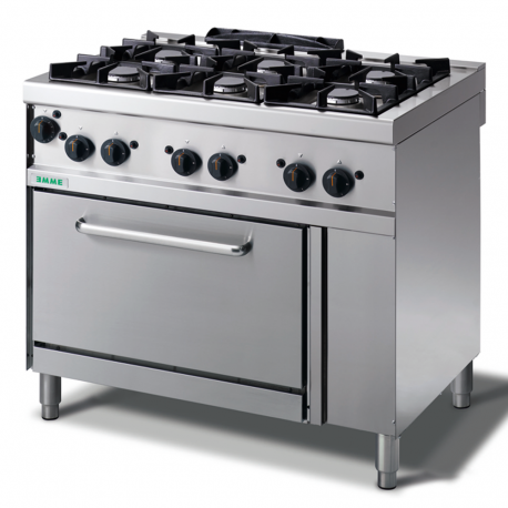 6 brûleurs cuisinière à gaz avec four