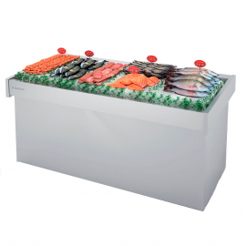 Exhibitor refrigerated fish