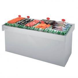 Expositor refrigerado para pescado
