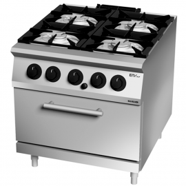 Cooking oven gas 4 burners