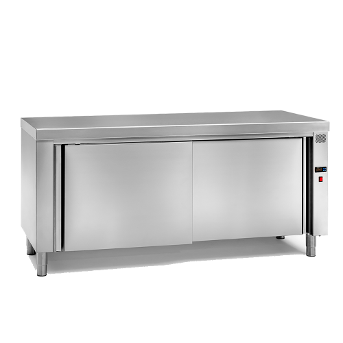 Tables chauffantes centrales inox