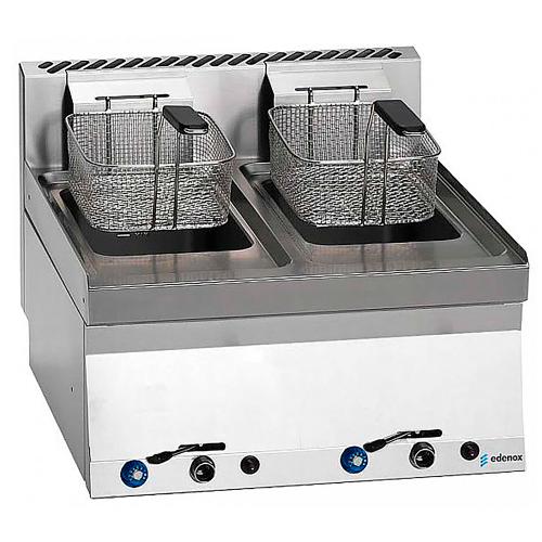 Double tabletop gas fryer