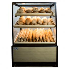 Bread bakery display case