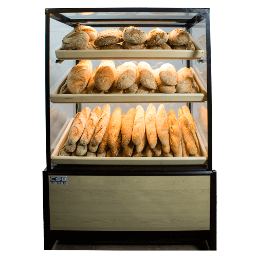 Bread bakery display case