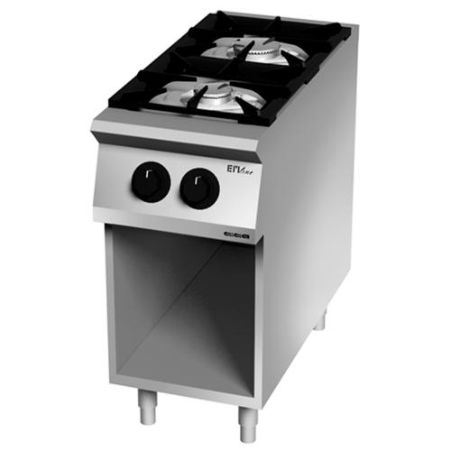 Cocina 2 fuegos gas 900