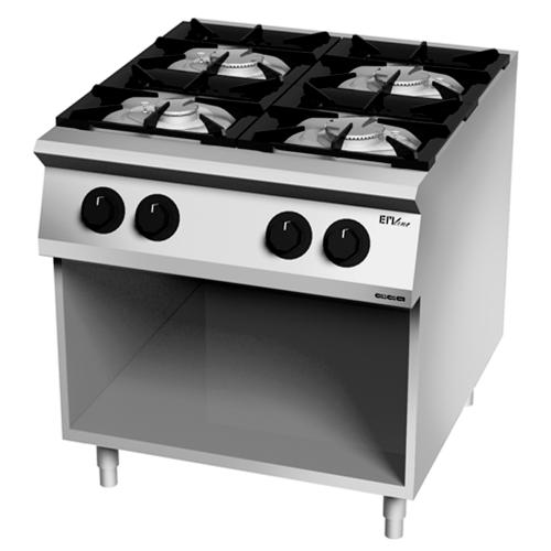 Cocina 4 fuegos gas 900