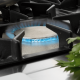 Commercial gas oven range with 4 burners and pilot flame