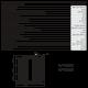 Fourneau professionnel 4 feux vifs sur four gaz GN 1/1