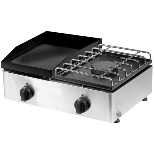 Plancha avec cuisine à gaz 60