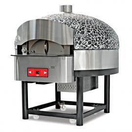 Four à pizza à bois et gas rotatif