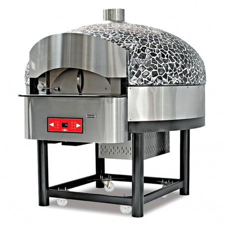 Horno pizzas eléctrico rotativo