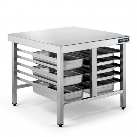 Table de support pour four inox GN 1/1 750