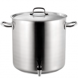 Pots with tap and stainless steel lid
