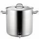 Pots avec robinet et couvercle en acier inoxydable